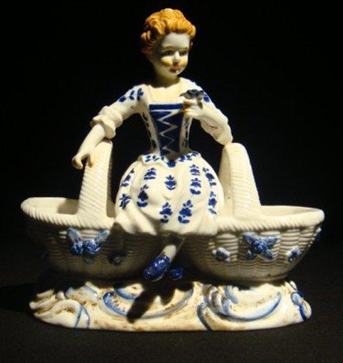 18: Meissen porcelain figural a girl