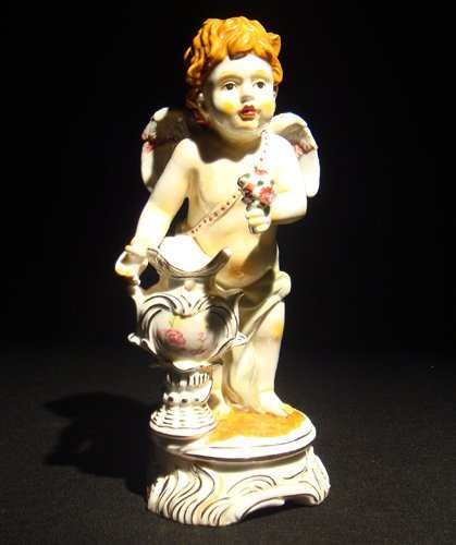23: Meissen porcelain cupid figure