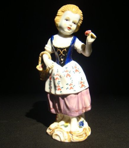 24: meissen porcelain figures of lady