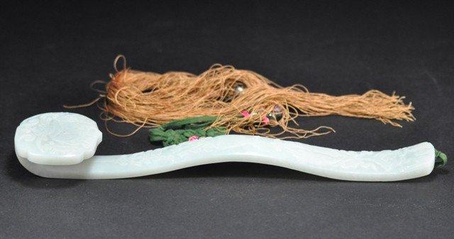 92: A WHITE JADE 'BAJIXIANG' RUYI SCEPTRE (QING DYNASTY