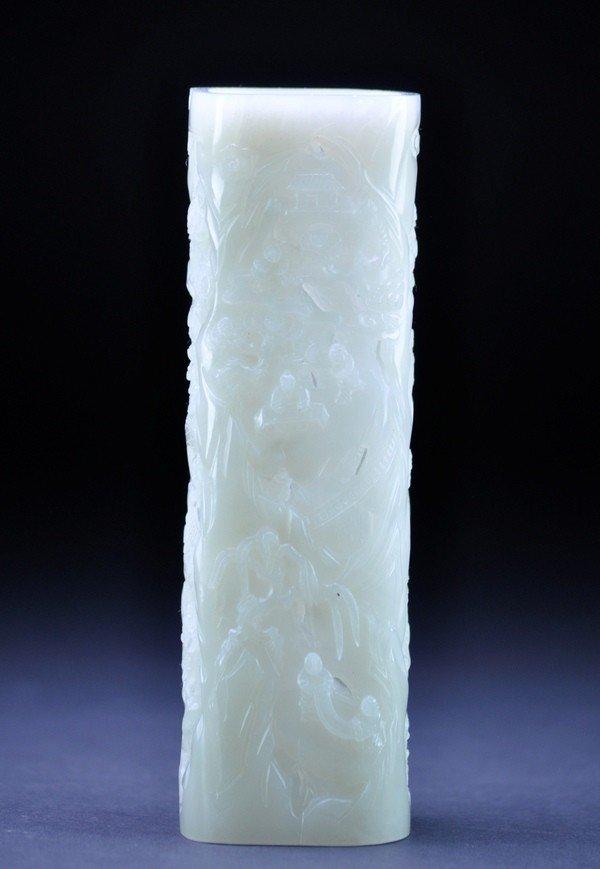 8: A WHITE JADE PERFUMER.  (QIANLONG PERIOD)