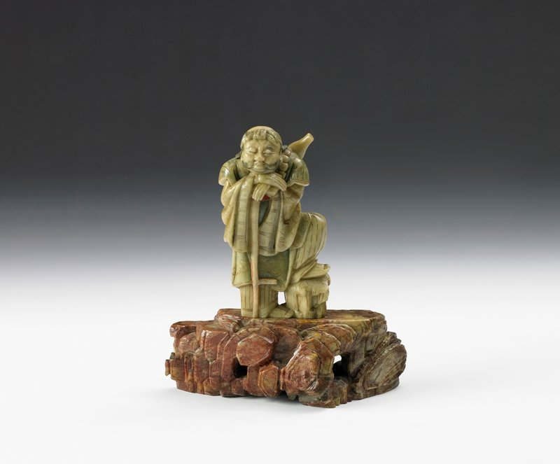 6: A soap stone figure of luohan, 20th Century