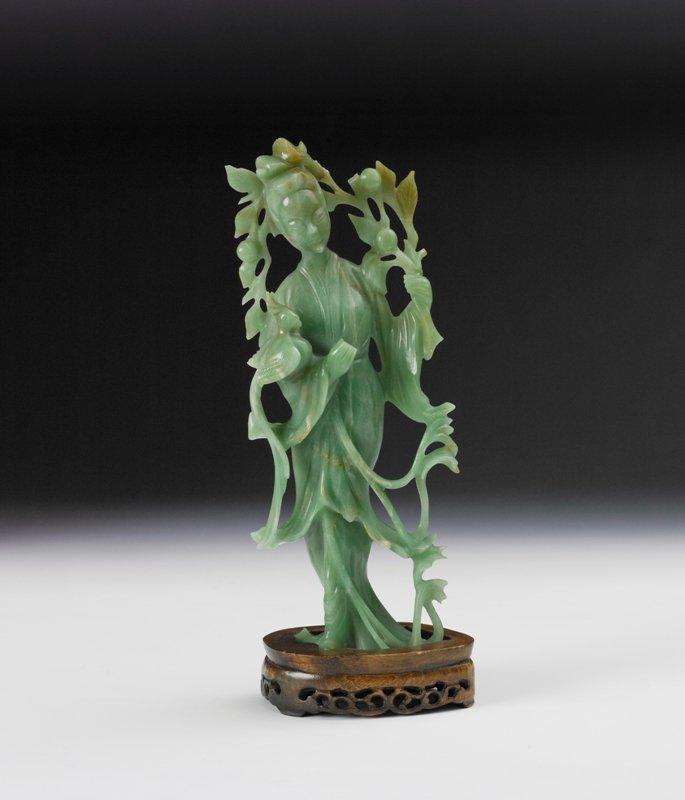 14: A jadeite figure of meiren, Early 20th Century