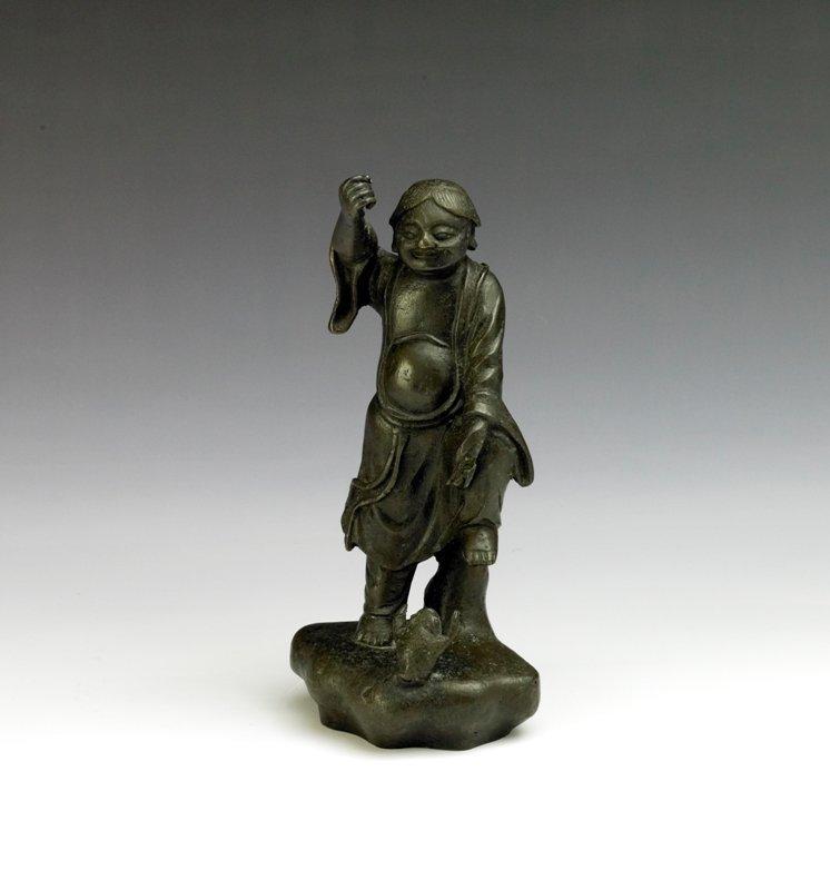 15: A bronze figure of LiuHai, Qing Dynasty