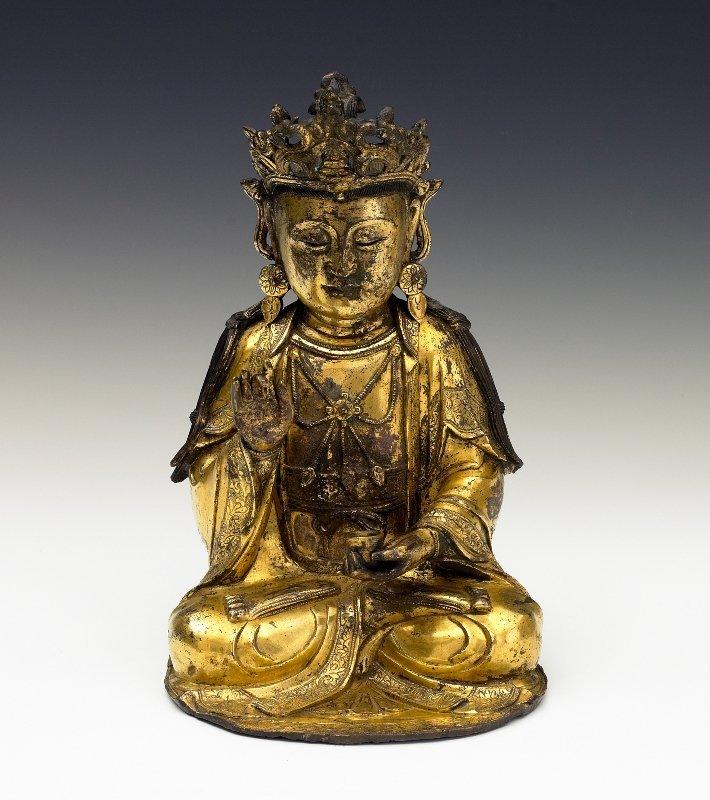 188: A gilt-bronze figure of GuanYin, Ming Dynasty