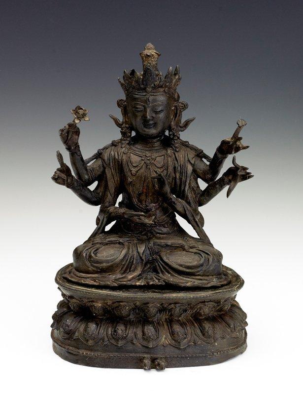 190: A  bronze figure of Shadakshari, Ming Dynasty