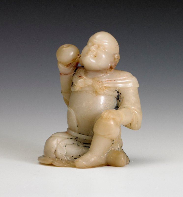 192: A soap stone carving of luohan, 18th Century