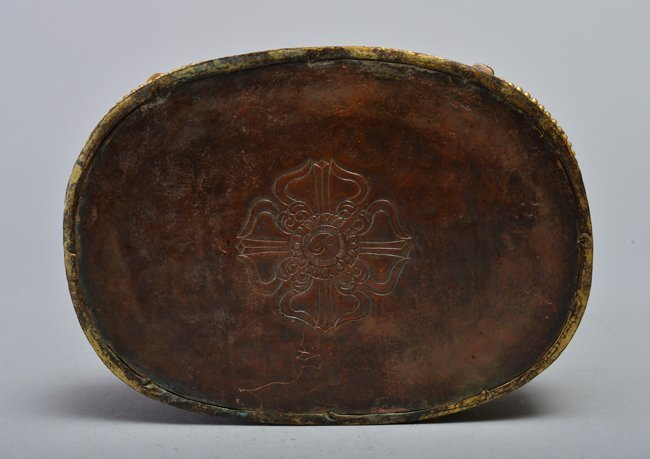 A GILT-BRONZE FIGURE OF MAHASIDDHA - 5