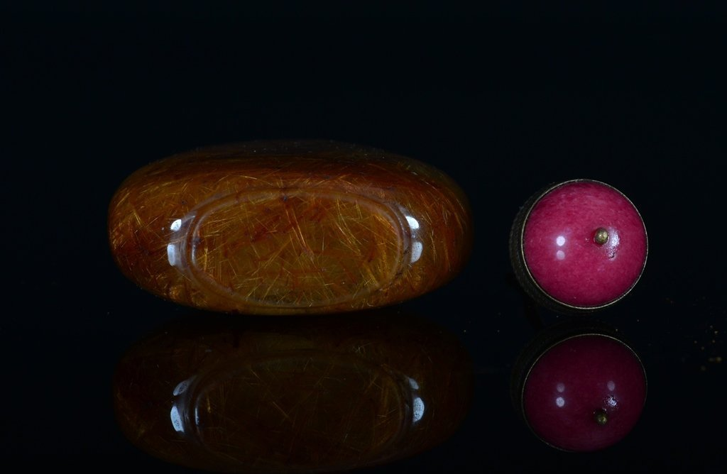 A PAINTED CRYSTAL SNUFF BOTTLE - 6