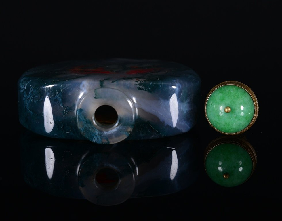 A PAINTED AGATE SNUFF BOTTLE - 5