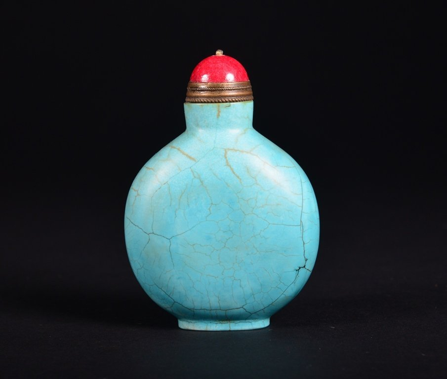 A TURQUOISE SNUFF BOTTLE - 2