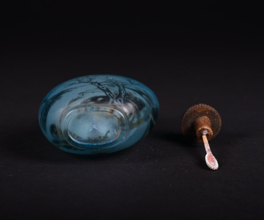 A PAINTED GLASS SNUFF BOTTLE - 6