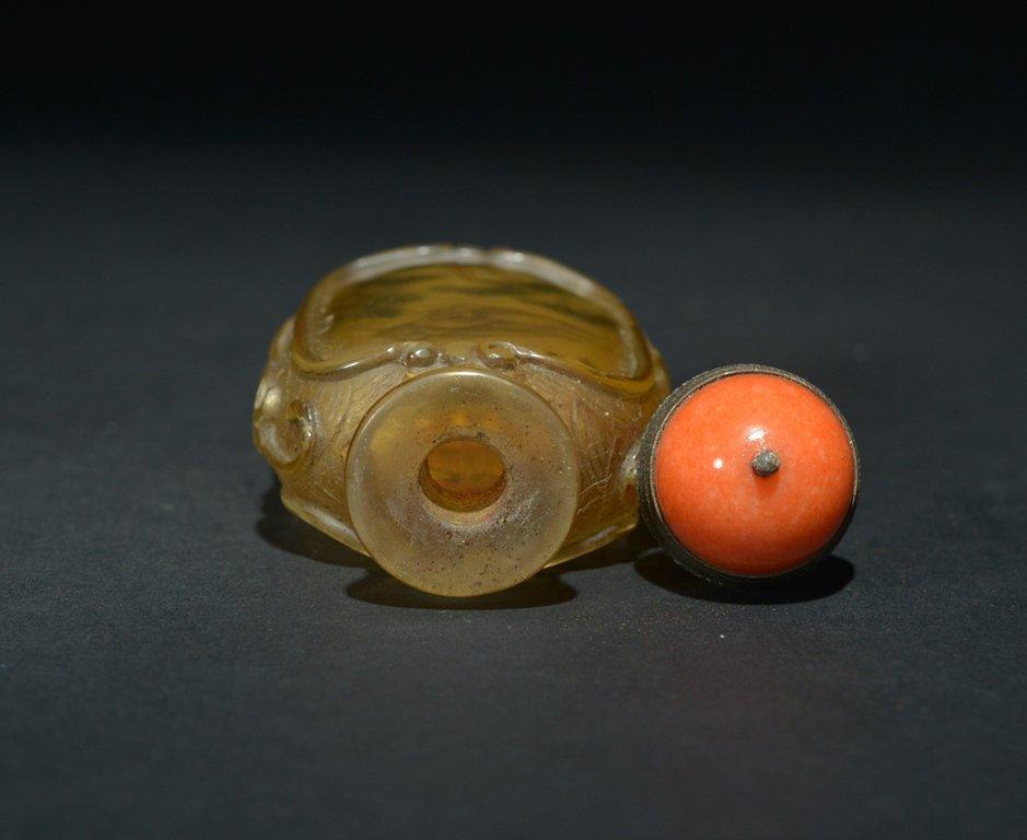 AN INSIDE-PAINTED GLASS SNUFF BOTTLE - 5