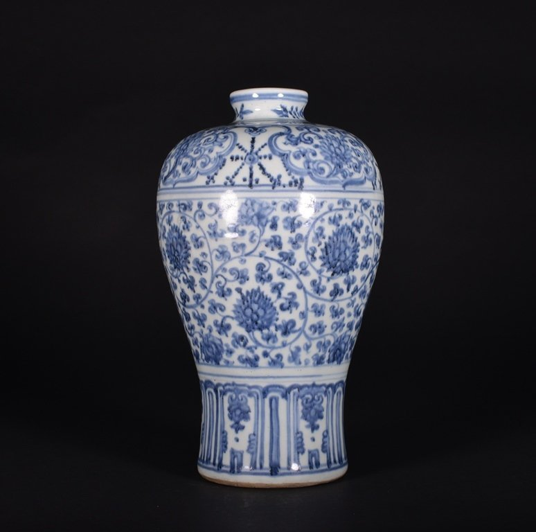 A BLUE AND WHITE MEIPING - 2