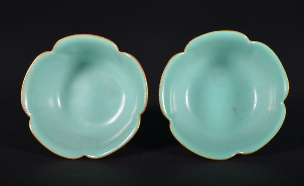 A PAIR OF FAMLLE-ROSE CUPS - 3