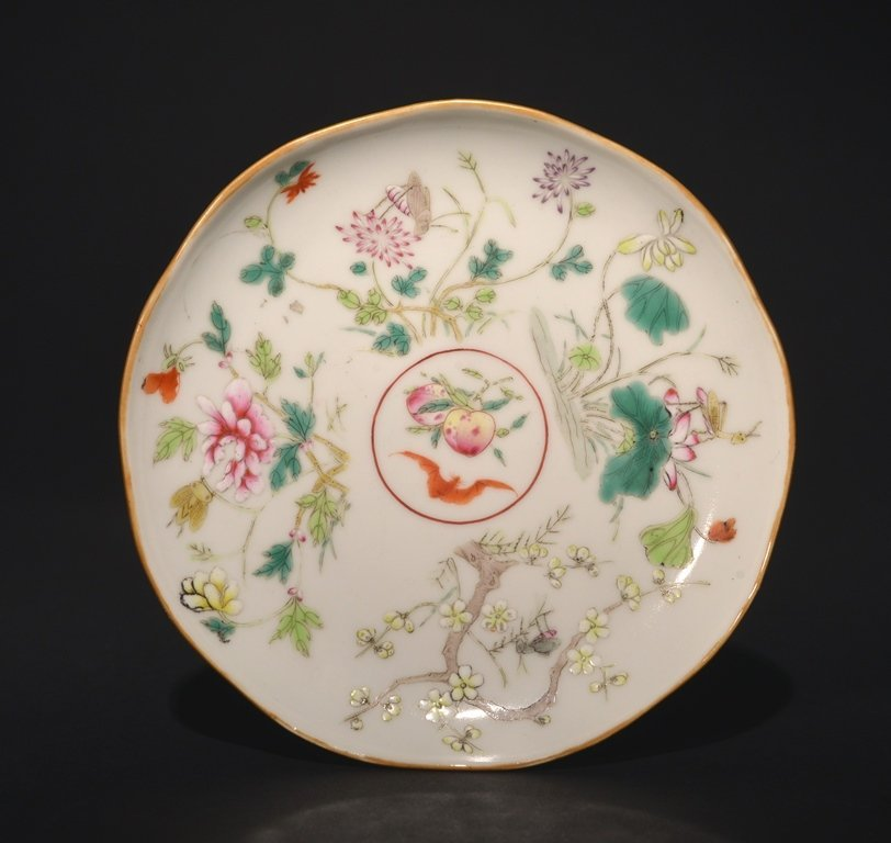 A FAMILLE-ROSE DISH