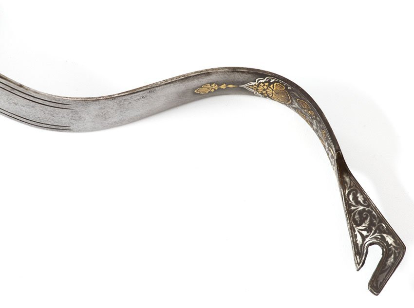 PERSIAN BOW WITH GOLD AND SILVER INLAY - 7