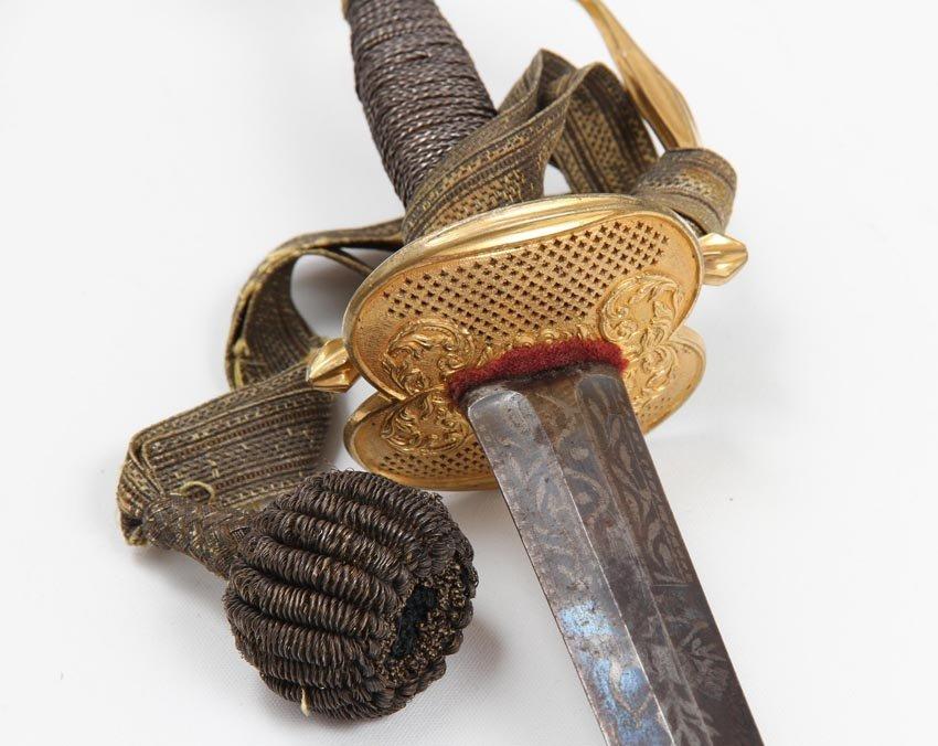 SWEDISH INFANTRY OFFICER SMALL SWORD 1770 - 5