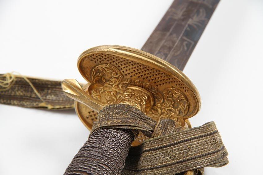 SWEDISH INFANTRY OFFICER SMALL SWORD 1770 - 7