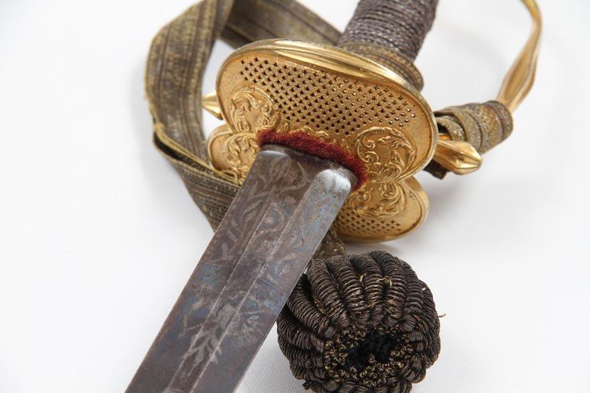 SWEDISH INFANTRY OFFICER SMALL SWORD 1770 - 8