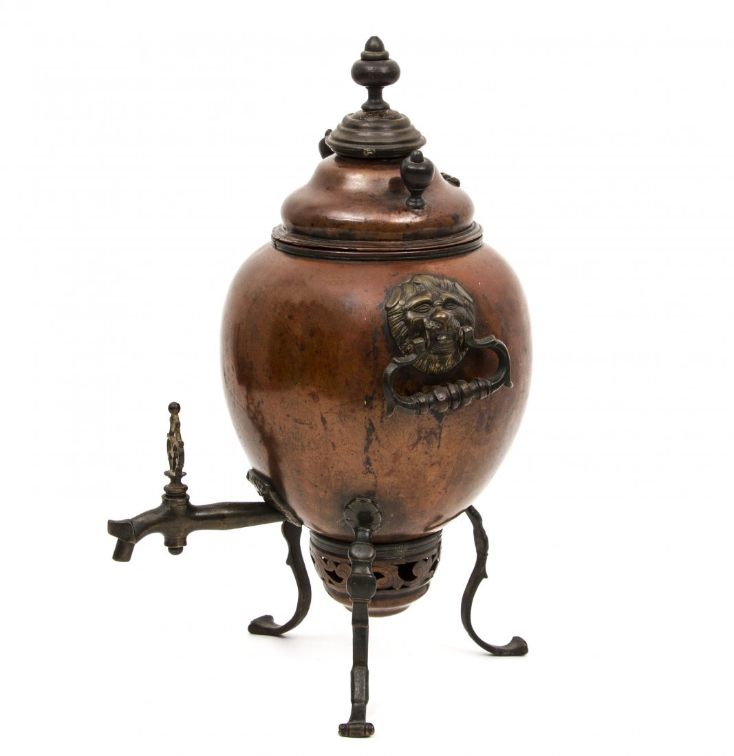 VERY EARLY RUSSIAN COPPER SAMOVAR BY DEMIDOV MFG. - 2