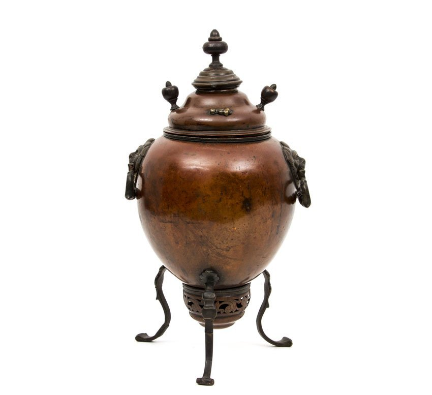 VERY EARLY RUSSIAN COPPER SAMOVAR BY DEMIDOV MFG. - 4