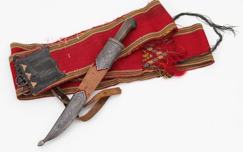BUKHARA OR CENTRAL ASIAN DAGGER WITH BELT