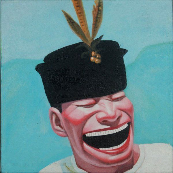9: Anonymous, Smiling face (feather hat)