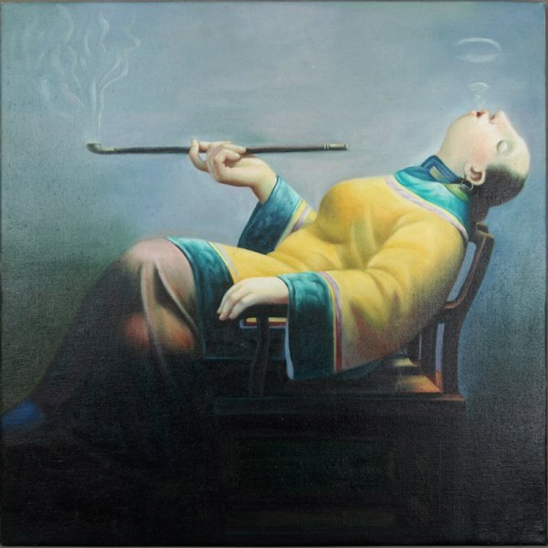 16: Anonymous, Somking woman on chair
