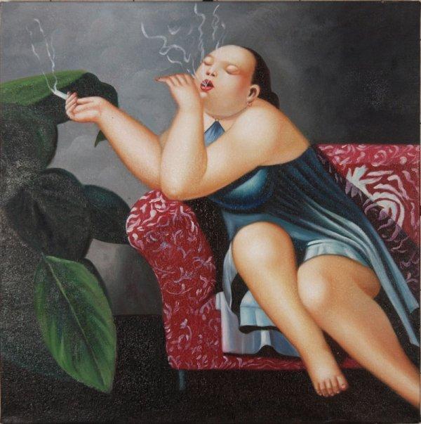 20: Anonymous, Somking woman, enjoying...