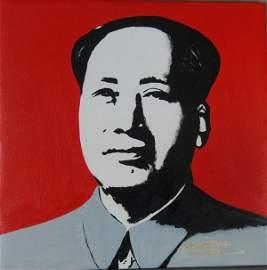 1: Kong Xianglin, Portrait of Chairman Mao (Red)