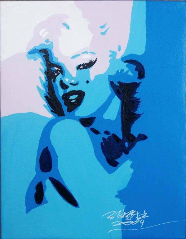6: Kong Xianglin, Portrait of Marilyn Monroe (Blue)