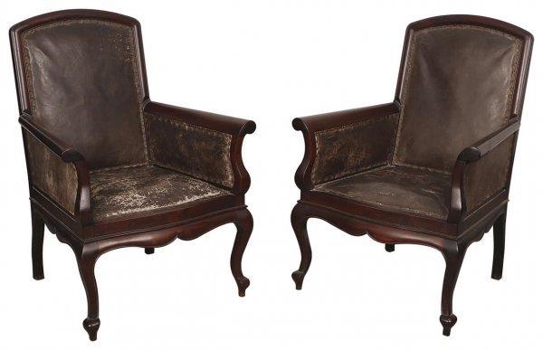 4: Set of three Chinese rosewood sofa
