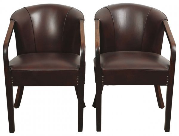5: Set of four Chinese rosewood sofa armchairs in weste