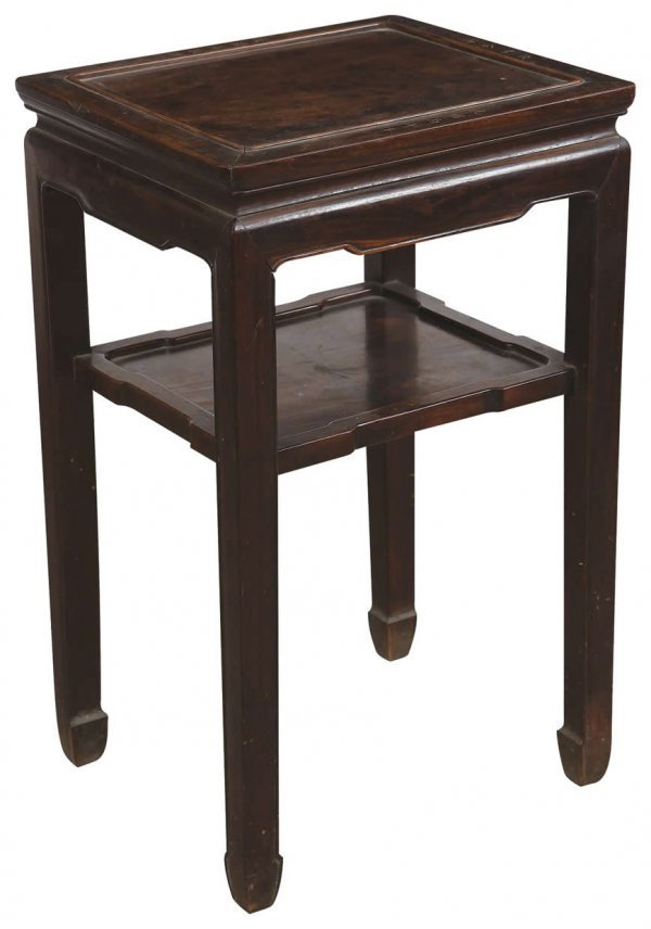 6: Chinese rosewood tea table
