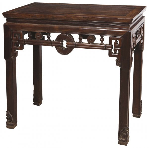 12: Chinese rosewood half table