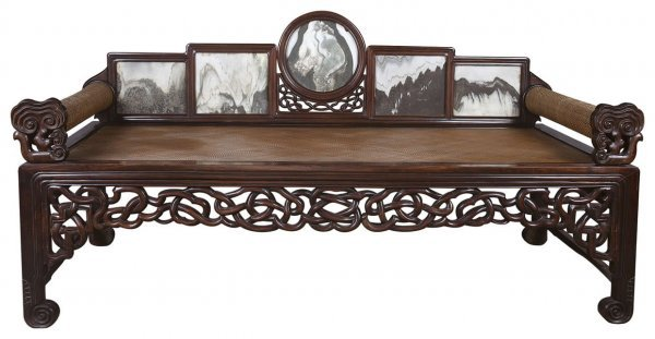 21: Chinese Gui-fei style rosewood sleeping bed