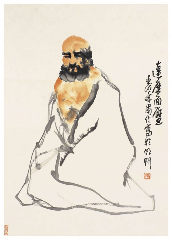 1010: Chinese Dharma painting attributed to Mao Guolun