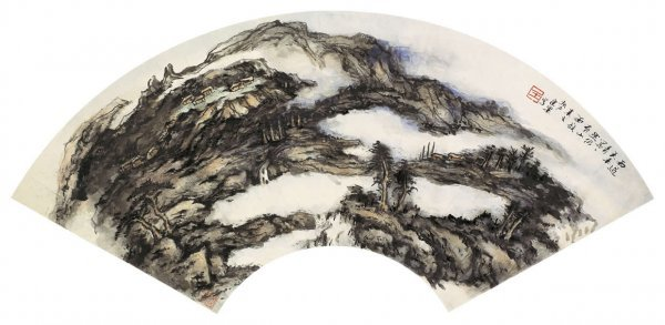 1019: Chinese landscape  painting attributed to Wang Ka