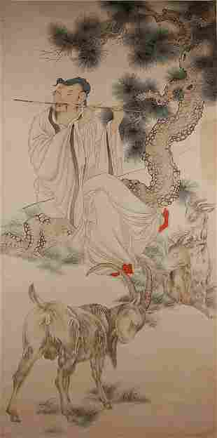 Chinese anonymous figure painting