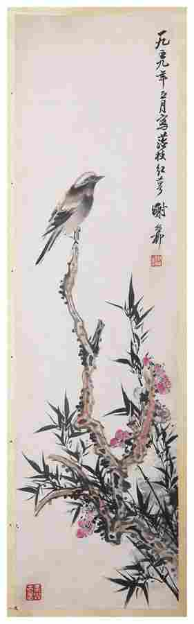Chinese flower and bird painting by Xie Zhiliu