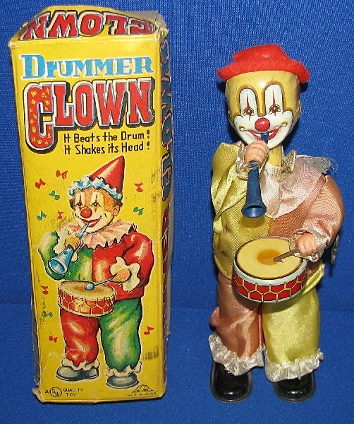 21: BOXED JAPANESE DRUMMER CLOWN