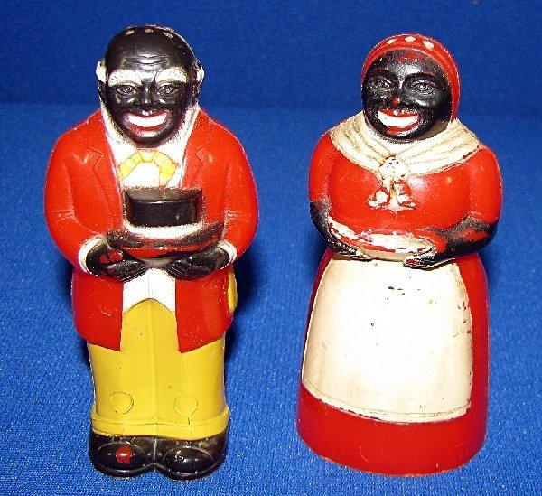 338: AUNT JEMIMA AND UNCLE MOSE SALT AND PEPPER SHAKERS