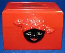 340: AUNT JEMIMA RECIPE BOX IN RED