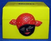 341: AUNT JEMIMA RECIPE BOX IN YELLOW