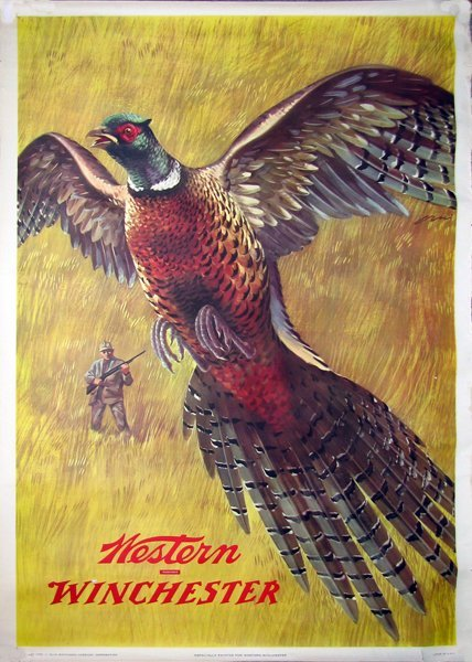 39: 1955 WINCHESTER WESTERN ADVERTISING POSTER
