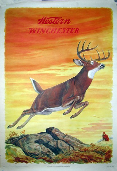 40: 1955 WINCHESTER WESTERN ADVERTISING POSTER