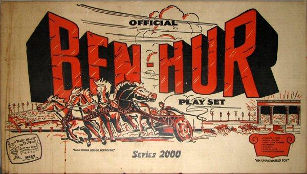 1: MARX FACTORY SEALED BEN-HUR PLAY SET