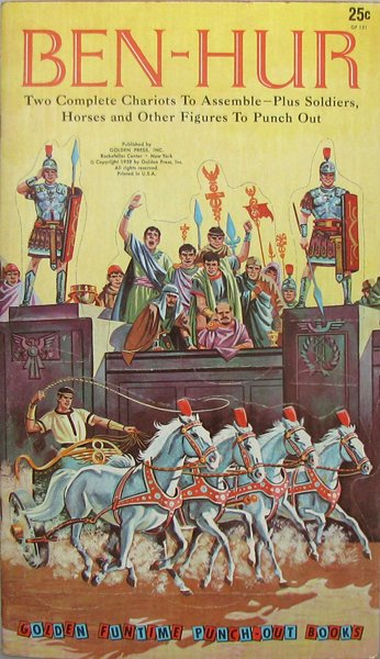 2: UNPUNCHED BEN-HUR GOLDEN PRESS PUNCH-OUT BOOK