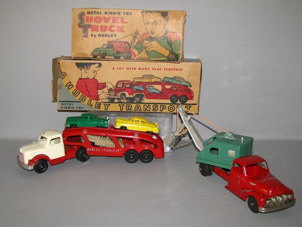 13: TWO BOXED DIE-CAST HUBLEY TRUCKS